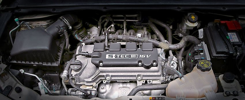 Двигатель B15D2 под капотом Шевроле Кобальт 2