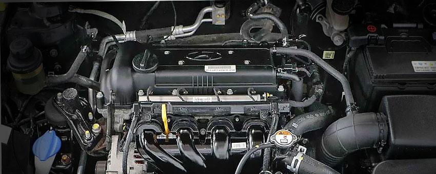 ДВС Хендай Солярис 1.6 литра G4FC под капотом.