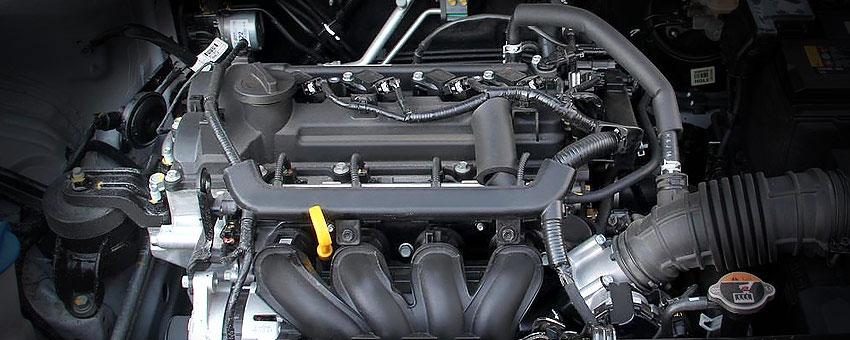 Мотор Киа Рио 4 1.4 литра G4LC под капотом.