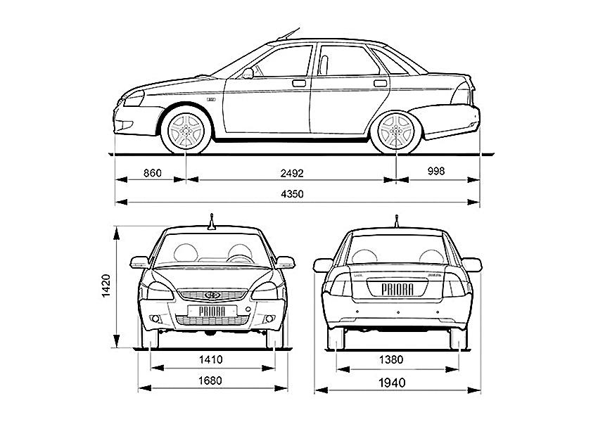 длина машины приора хэтчбек как-то стародавние