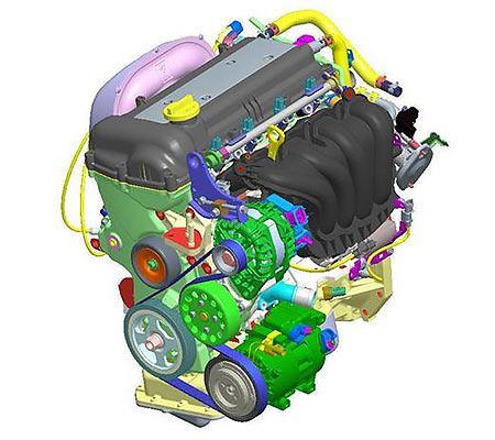 Двигатель G4FG схема.