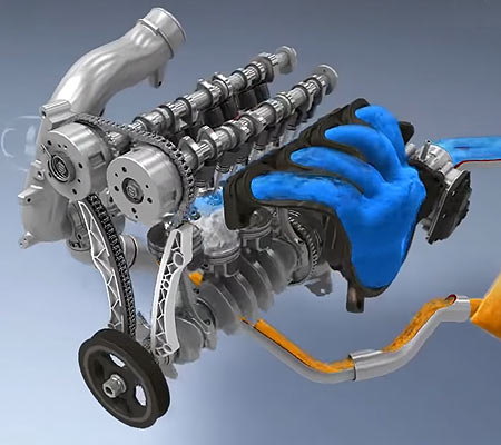 Двигатель G4FJ схема.