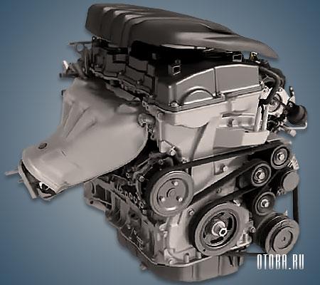 Двигатель G4KJ вид сзади.