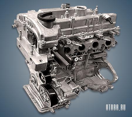 Двигатель G4LD вид сзади.