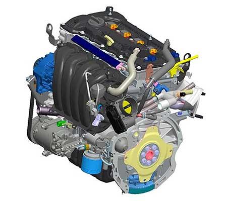 Двигатель G4NA схема.