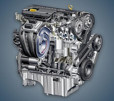 Мотор Opel Z18XER в разрезе.