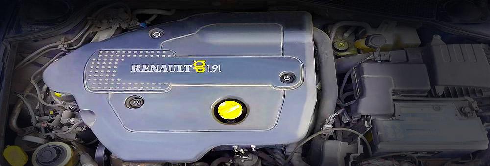 Силовой агрегат f9q под капотом Лагуны.