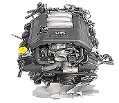 Иконка двс Isuzu V-engine бензин