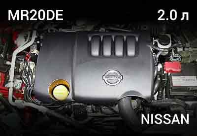 Картинка-ссылка на двигатель MR20DE