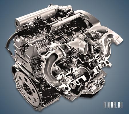 Двигатель 2JZ-GTE в разрезе.