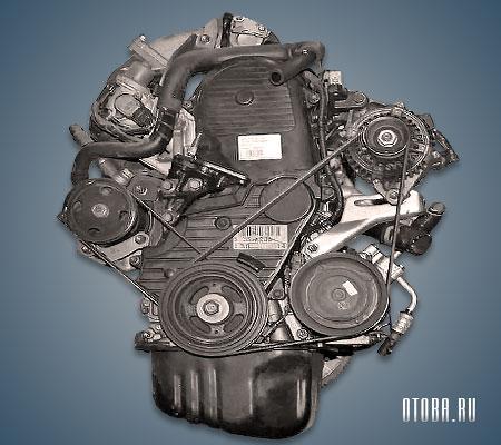 Мотор Тойота 3S-FSE вид сзади.