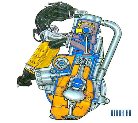 Мотор ВАЗ 11183 схема.