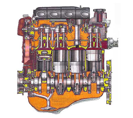 Мотор ВАЗ 11194 схема.