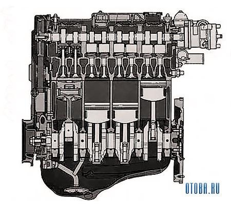 Двигатель VAZ 2110 фото.