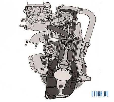 Мотор Рено VAZ 2110 схема.