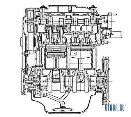 Двигатель VAZ 2111 фото.