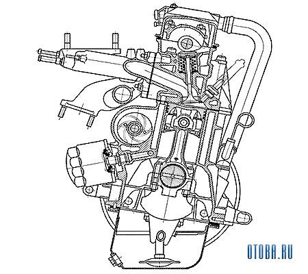 Мотор Рено VAZ 2111 схема.