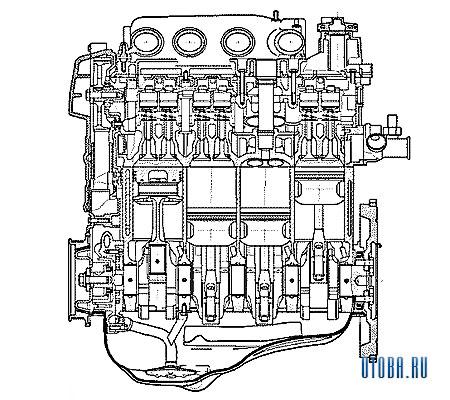 Двигатель VAZ 2112 фото.