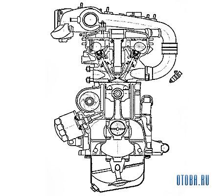 Мотор Рено VAZ 2112 схема.