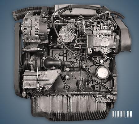 Мотор VW AAB вид сзади.