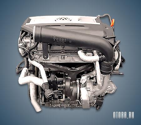 Мотор VW CAWA вид сзади.